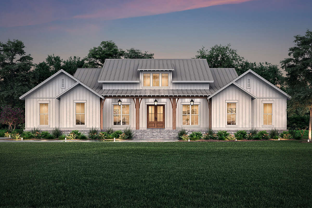 Plan 62832dj 3 Bed New American Farmhouse Plan With Bonus Room And Basement Expansion Family House Plans House Plans Farmhouse Farmhouse Plans