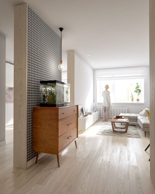 A Midcentury Inspired Apartment With Scandinavian