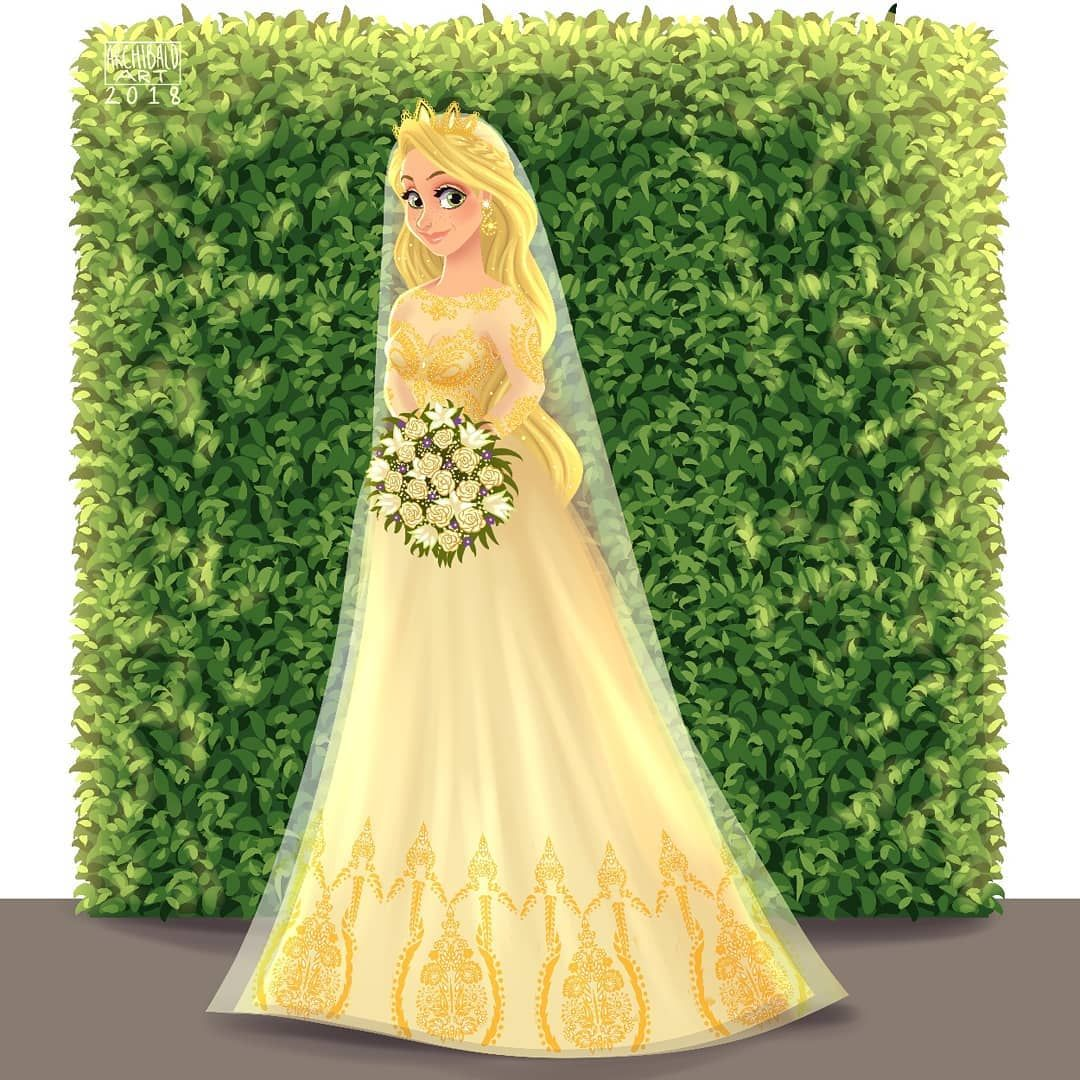 Princesses X Modern Brides Disneyprincess Rapunzel Inspired By One Of The Dresses In The Bridal Shop Wirelace Katecawaling I [ 1080 x 1080 Pixel ]