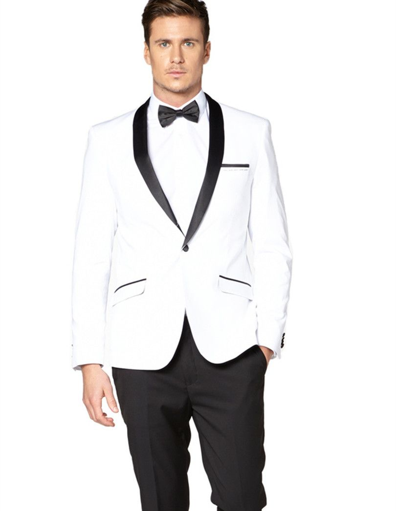 Find More Suits Information about white tuxedo jacket black lapel ...