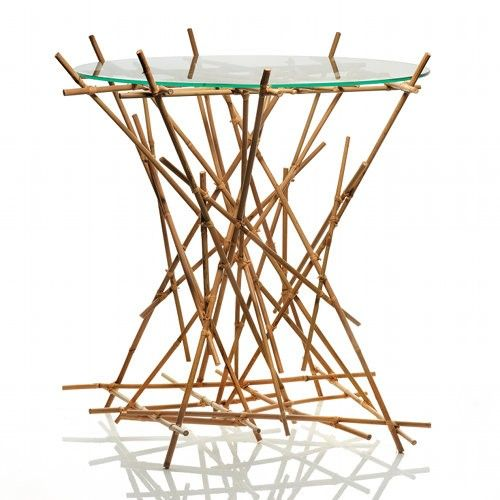 FC09 WD Blow Up Small Table - Bamboo -Closeout
