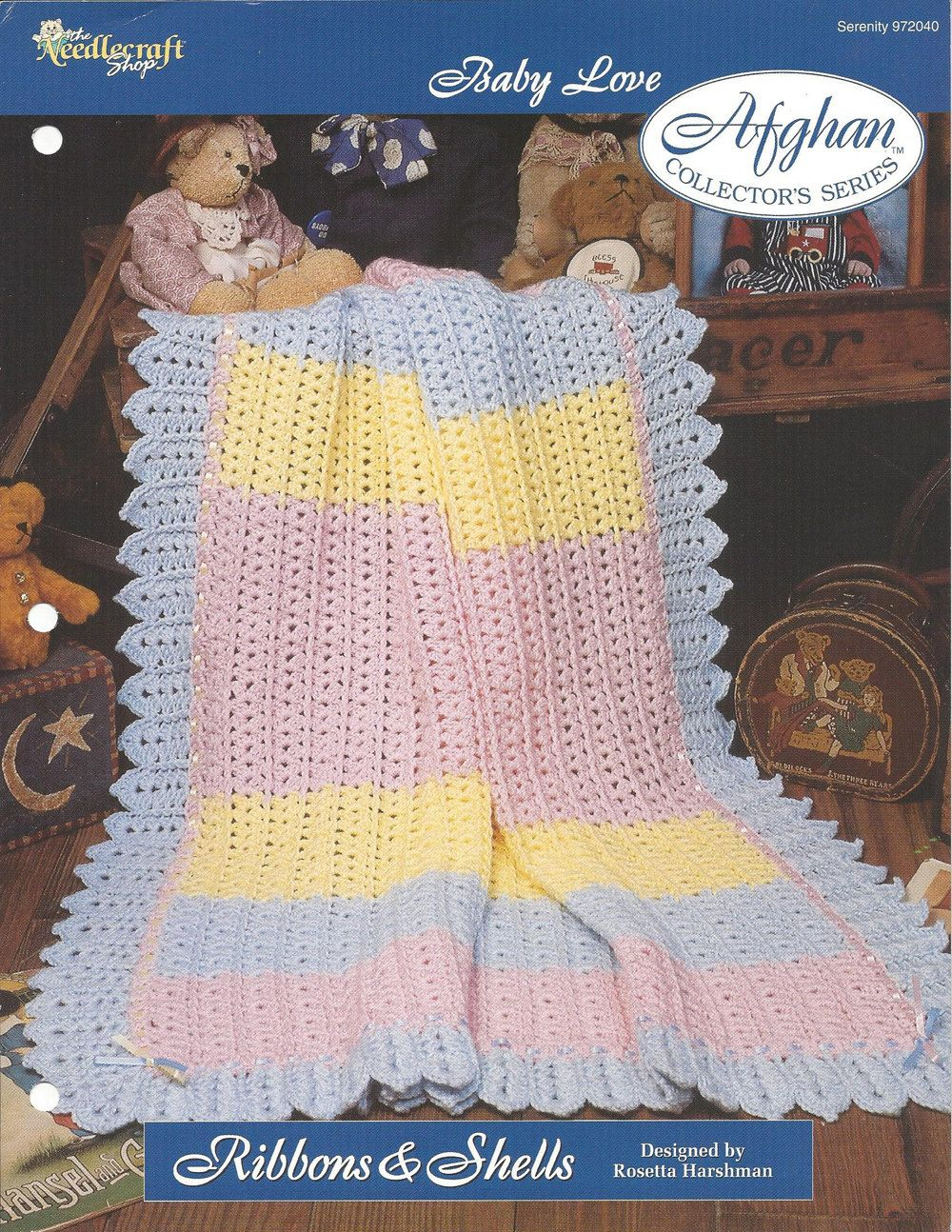 Crochet baby afghan pattern nursery decor by knitknackscreations crochet baby afghan pattern nursery decor bedding crib blanket baby wrap blanket baby love the needlecraft shop ribbons shells dt1010fo