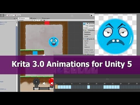 Krita 3 0 Animation to Unity tutorial - YouTube   Krita