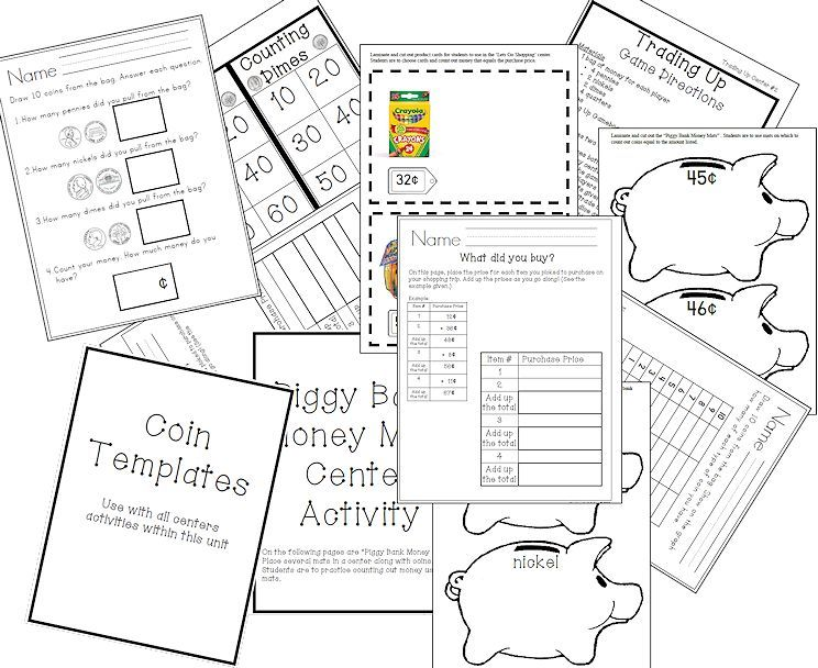 Free It's All About Money Unit Study and Worksheet