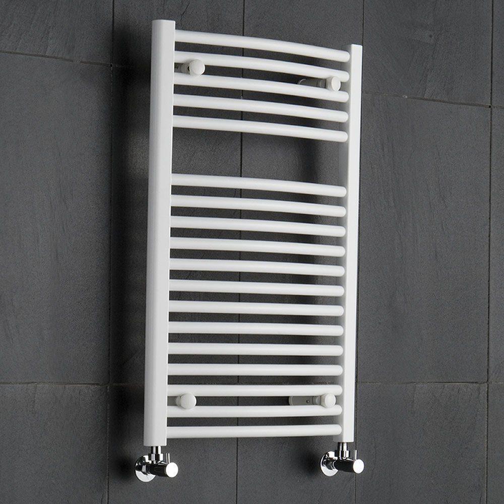 986W Radiador Toallero de Pared para el Ba/ño con Estilo Moderno Acero Inoxidable Blanco 1800 x 500mm Hudson Reed Radiador Toallero ETNA de Dise/ño Moderno