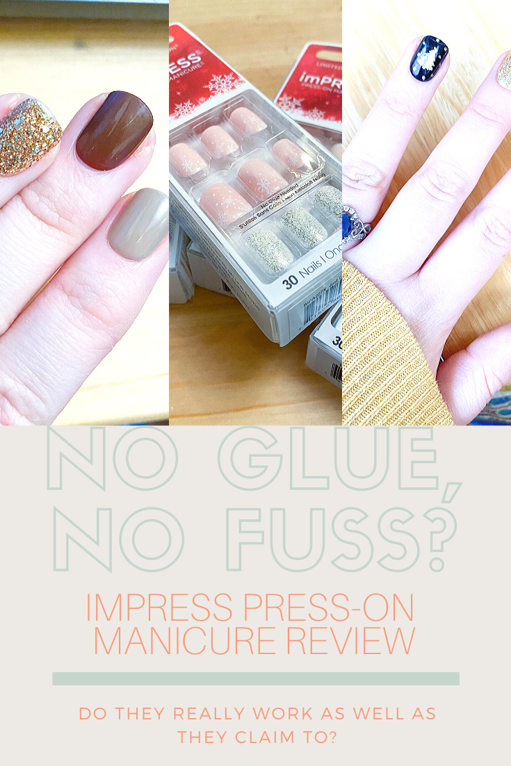 Impress Press On Nails Manicure Review In 2020 With Images Press On Nails