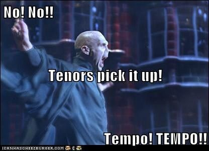 Come On Tenors Harry Potter Funny Band Jokes Choir Humor