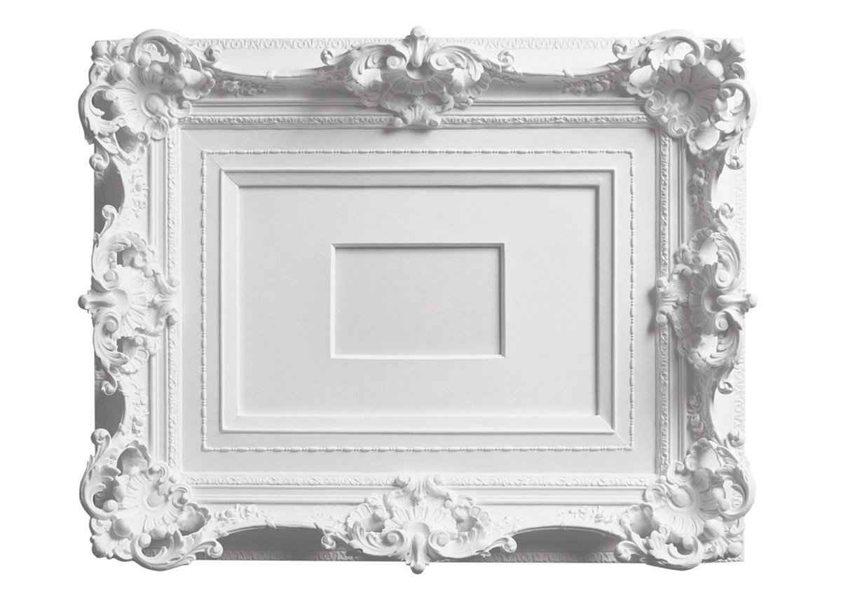 Areaware My Brother's White Victorian Picture Frame