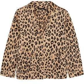 Equipment Kate Moss Lake Leopard-Print Washed-Silk Pajama Shirt  Lake  Leopard Moss e81304bc2