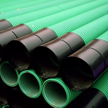 Twin Wall Unperforated Electric Utility Duct Pipe 150mm x 6m