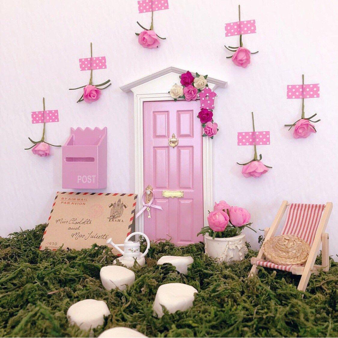 Fairy Tweet Fairy Door In Candy Pink Fairy Doors Fairy Door Accessories Fairy Door