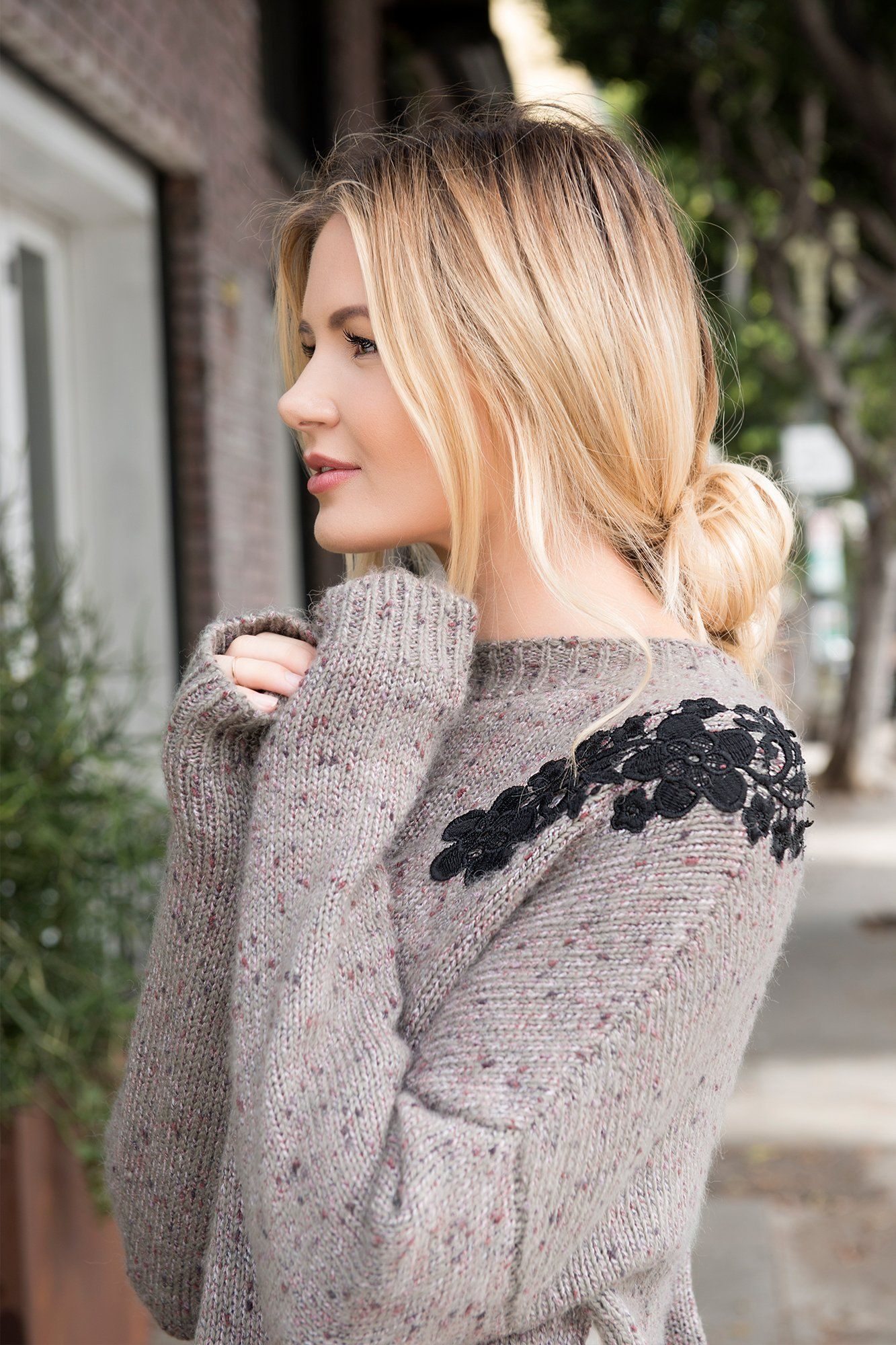 Tanya Marbled Sweater