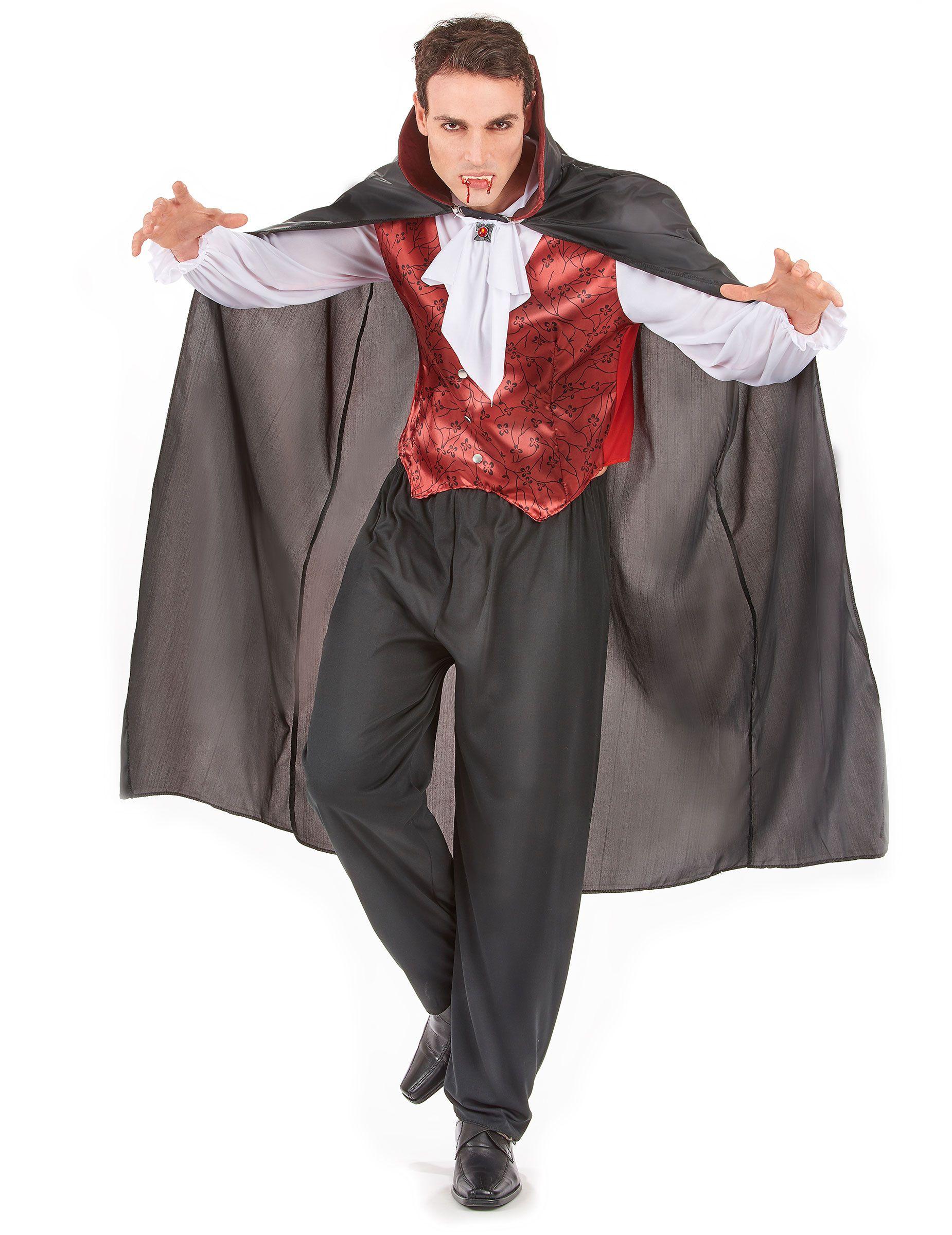 48e50be46f92b ... hombre ideal para Halloween  Disfraz de vampiro para hombre compuesto  por un chaleco color burdeos con botones integrado en una camisa blanca  satinada