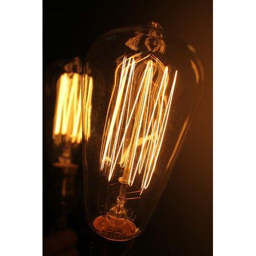 Thomas Edison Light Bulb - Squirrelcage Filament - B22 - Fat Shack
