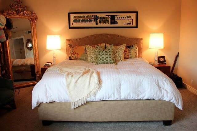 I want this bed.  Midcentury Modern House Makeover: Master Suite  by Dream Book Design
