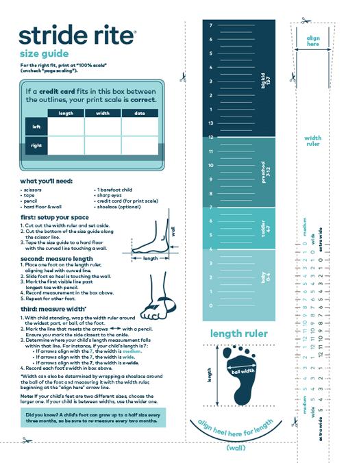 Kids' Shoe Size Chart, Baby \u0026 Toddler
