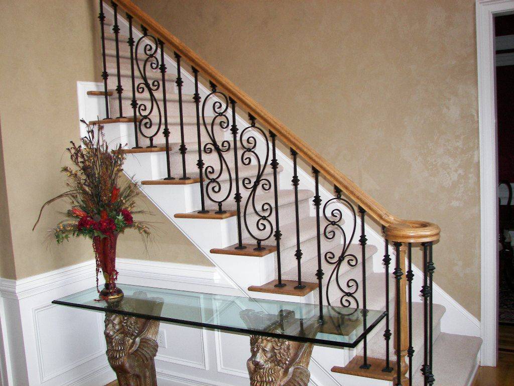 Iron Balusters Staircase Image Scroll Series Dream Home