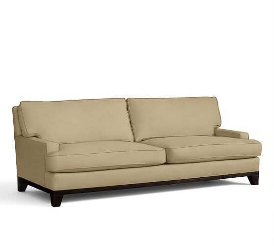 Seabury Sofa   Pottery Barn   Performance Everydaysuede In Oat Part 41