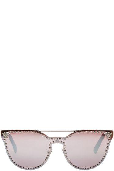 a9fe5179db Versace - Silver Rock Icons Medusa Studded Sunglasses
