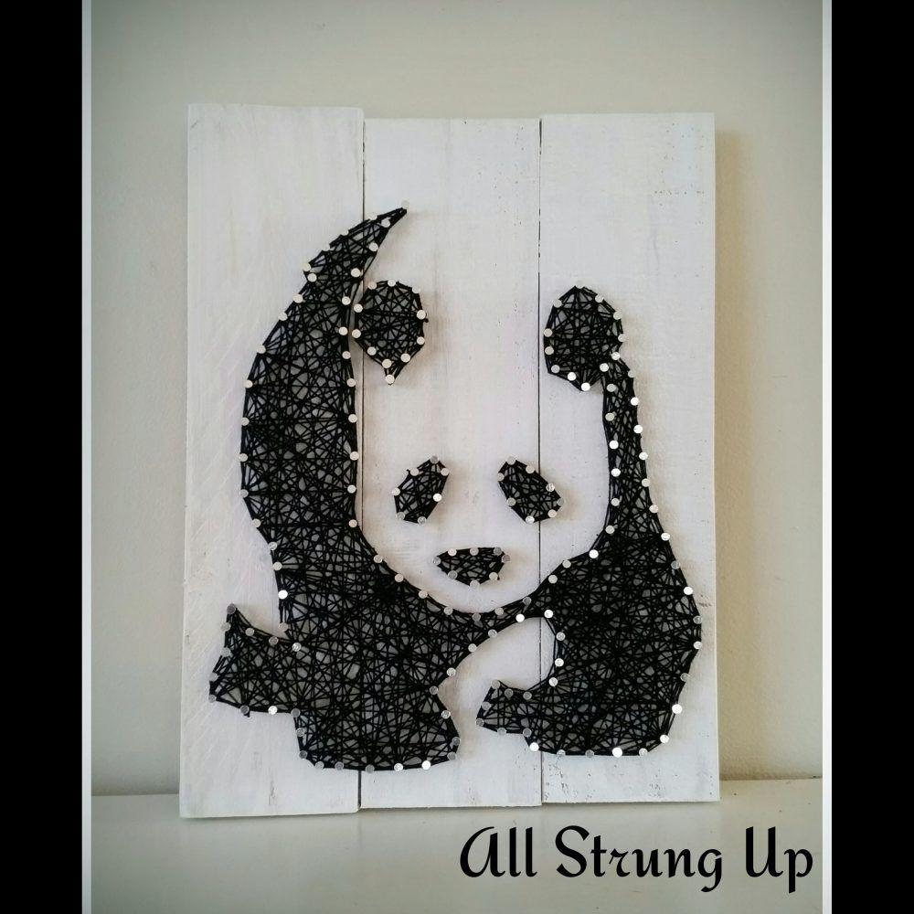 Panda string Art All Strung Up | String art | Pinterest
