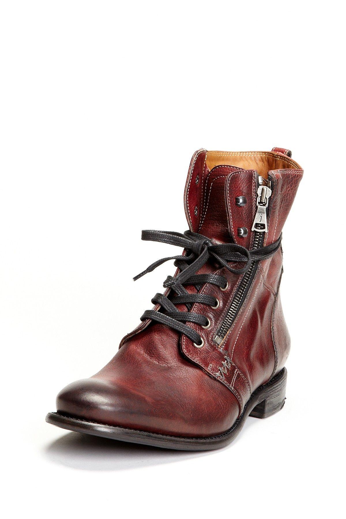 HOT man boots!! John Varvatos Lace-Up Side Zip Boot #hubby