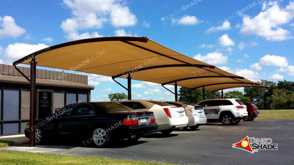 Offset Cantilever Curve Shade Structures Sails Custom Umbrellas