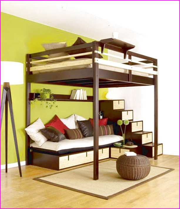 Awesome Plans For Loft Bed With Stairs | Complete Woodworking Catalogues