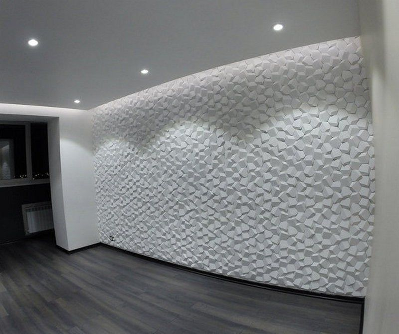 Gypsum *BEEHIVE* 3D Decorative Wall Panels 1 pcs ABS Plastic mould for Plaster