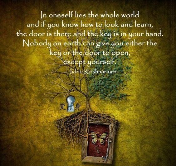 Image result for in oneself lies the whole world