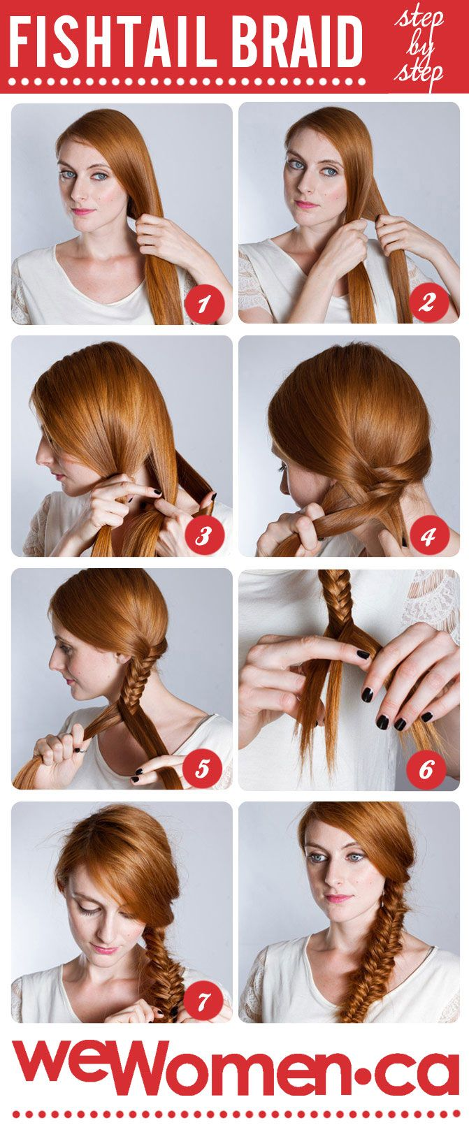 How To Do A Fishtail Braid Step By Step Fishtail Plait Wewomen Hair Styles Plaits Hairstyles Fish Tail Braid