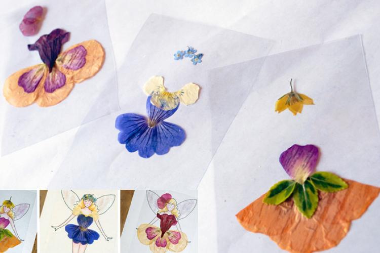 Faire sécher des fleurs pour en faire des Fées! Des patrons gratuits!