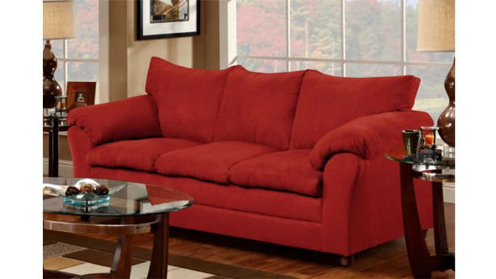 Suede Living Room Furniture How To Paint A Wall Red Sofa Modern