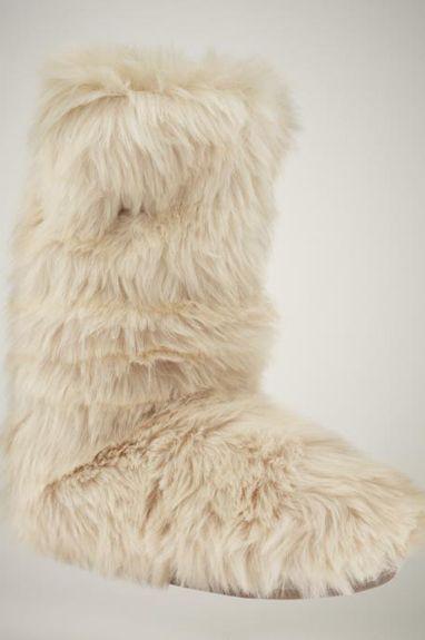 66bc40991f9ee Gap Fur Slipper Booties