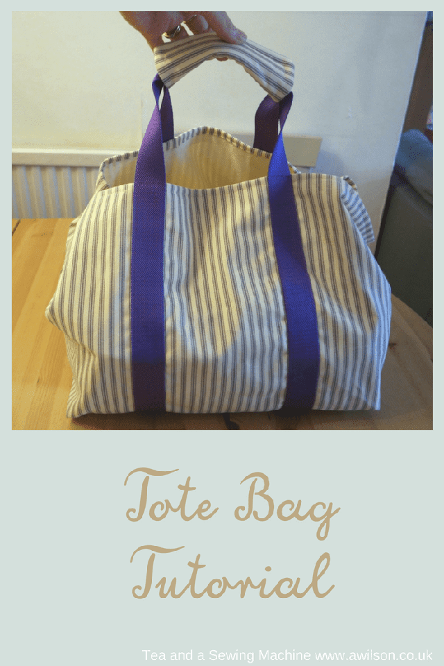 Showcasing Lined Tote Bag With Handle Cover Tutorial Tote Bag Tutorial Tote Bags Sewing Bags Tutorial