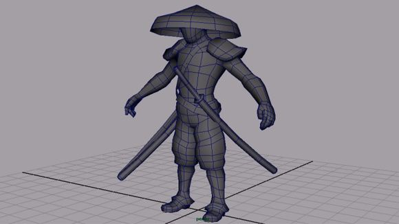 Character Design Maya Tutorial : Maya samurai character modeling and unwrapping tutorial
