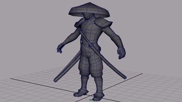 Character Design Tutorial In Maya : Maya samurai character modeling and unwrapping tutorial