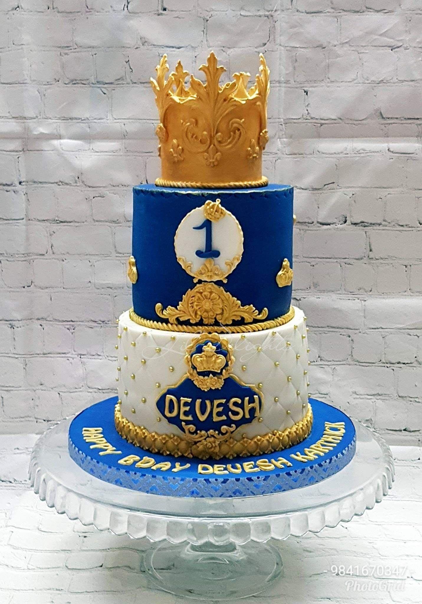 Royal Prince Cake A Royal Prince Theme Cake For Lil Prince Devesh