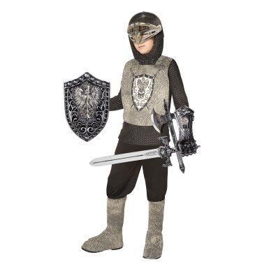 Girls Boys Kids Childrens Crusader Weapon Set Armour Axe Fancy Dress Accessory
