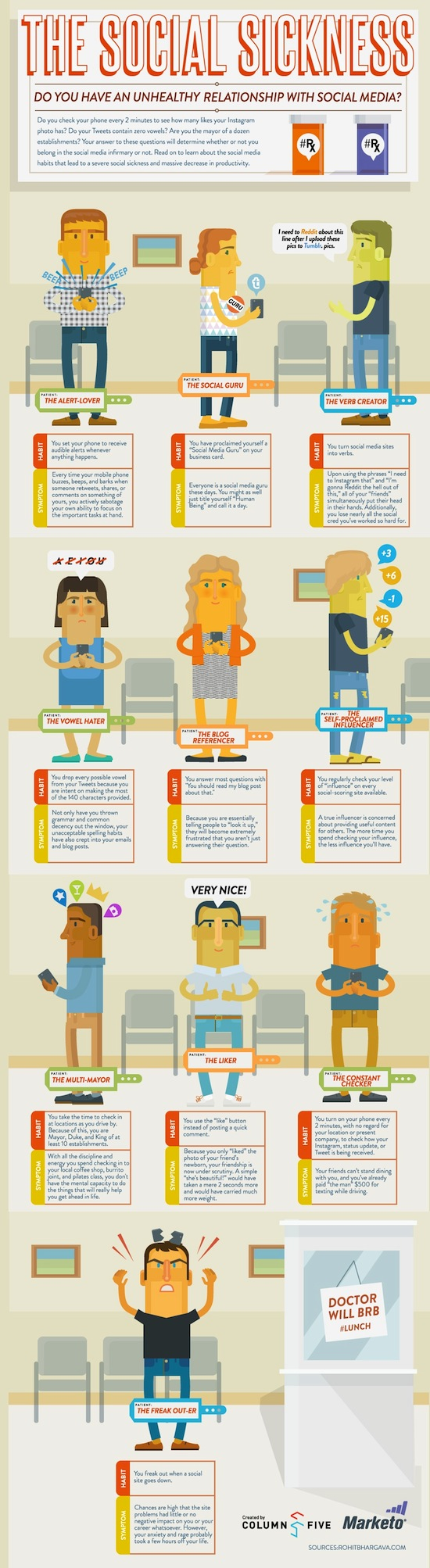 The social sickness : do you have an unhealthy relationship with social media ? #infographics #socialmedia