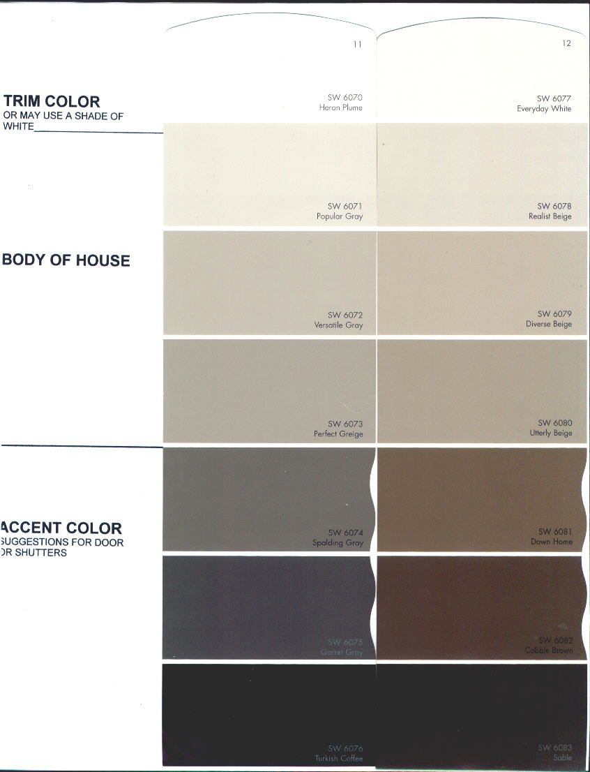 The Preserve Architectural Review Board Color Charts Exterior
