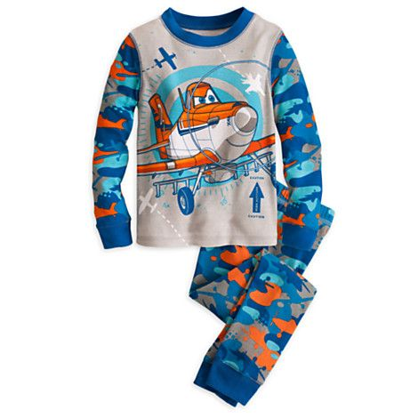 Disney Planes Boys Blue Poly Pajamas