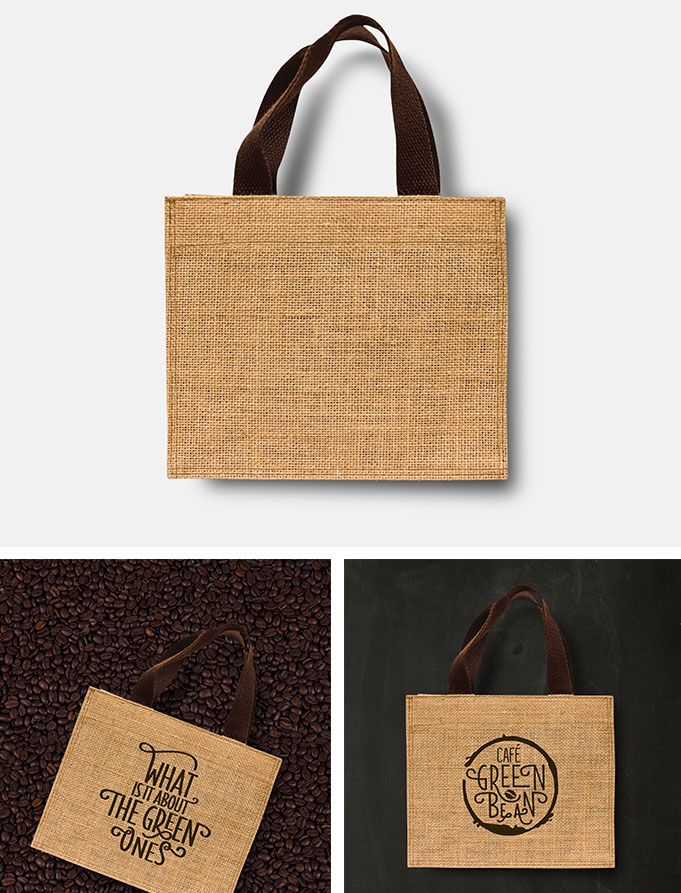 Download Free Eco Sack Material Bag Mock Up Based On Professional Photos Just Open The Psd File And Place Your Design On The Objects Sack Bag Bags Burlap Bag