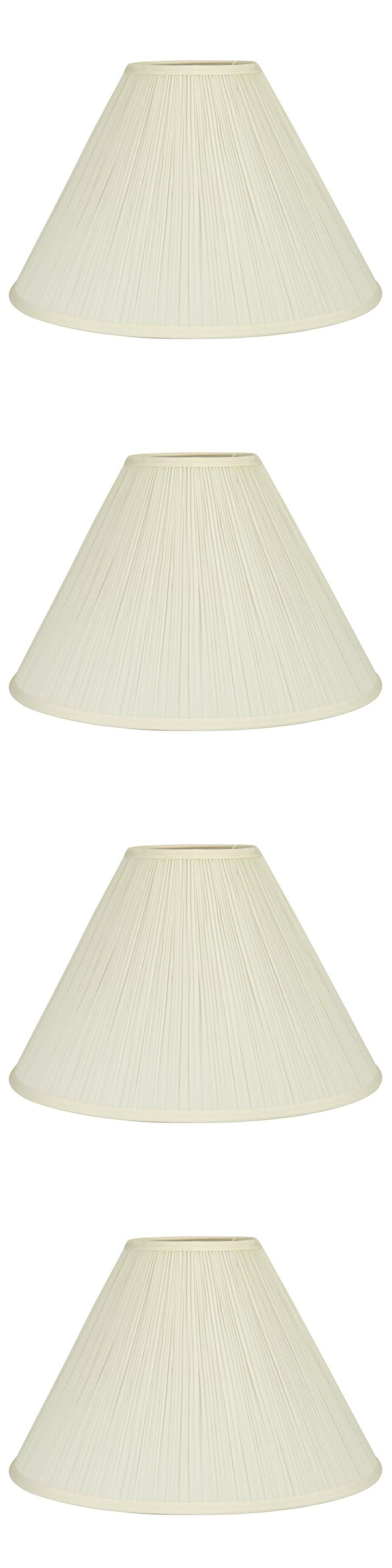 Lamp Shades 20708 Allen Roth Standard Extra Large Cream Fabric