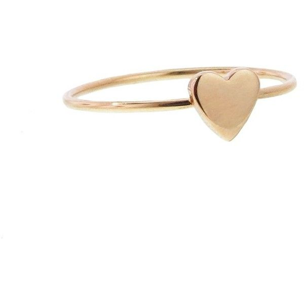 Jennifer Meyer Small Heart Stacking Ring Rose Gold €200 found