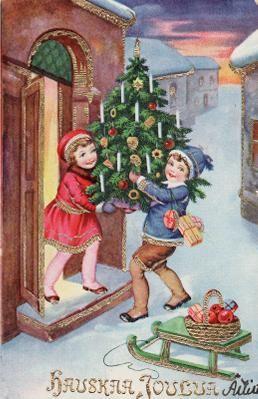 Joulukuusi tuodaan sisälle