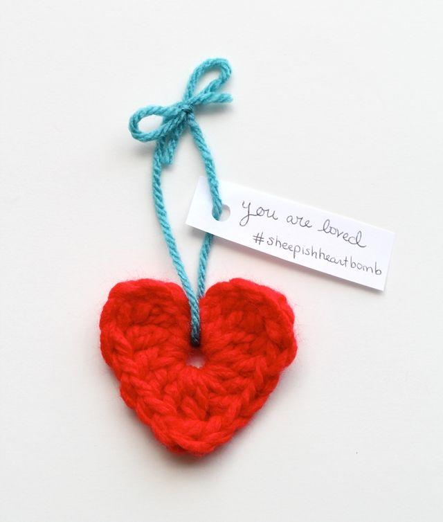 one sheepish girl: Sheepish Yarn Bombing Day 2 - Share Your Heart
