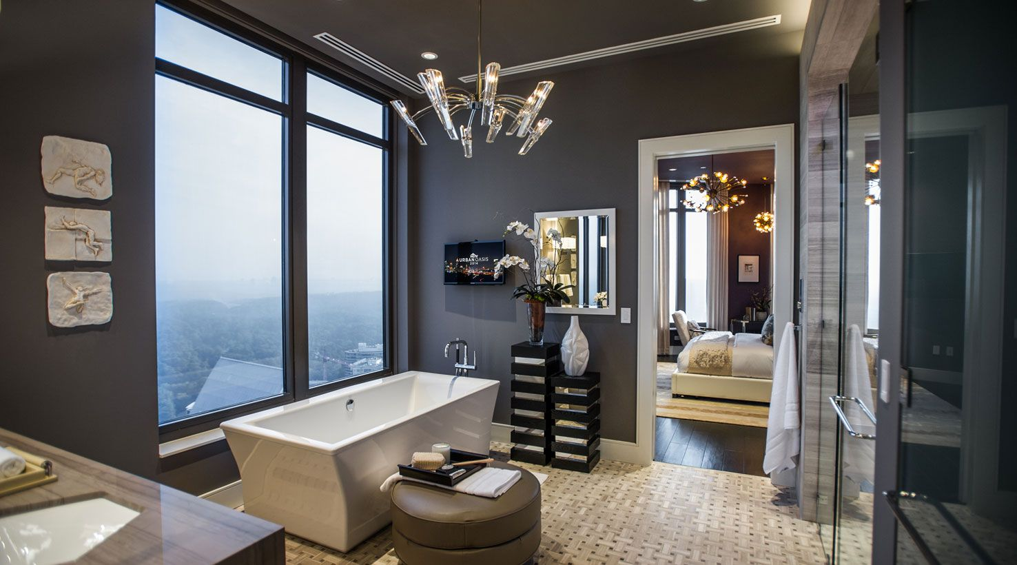 Sw img hgtv urban oasis 2014 master bathroom sherwin for Small bathroom oasis