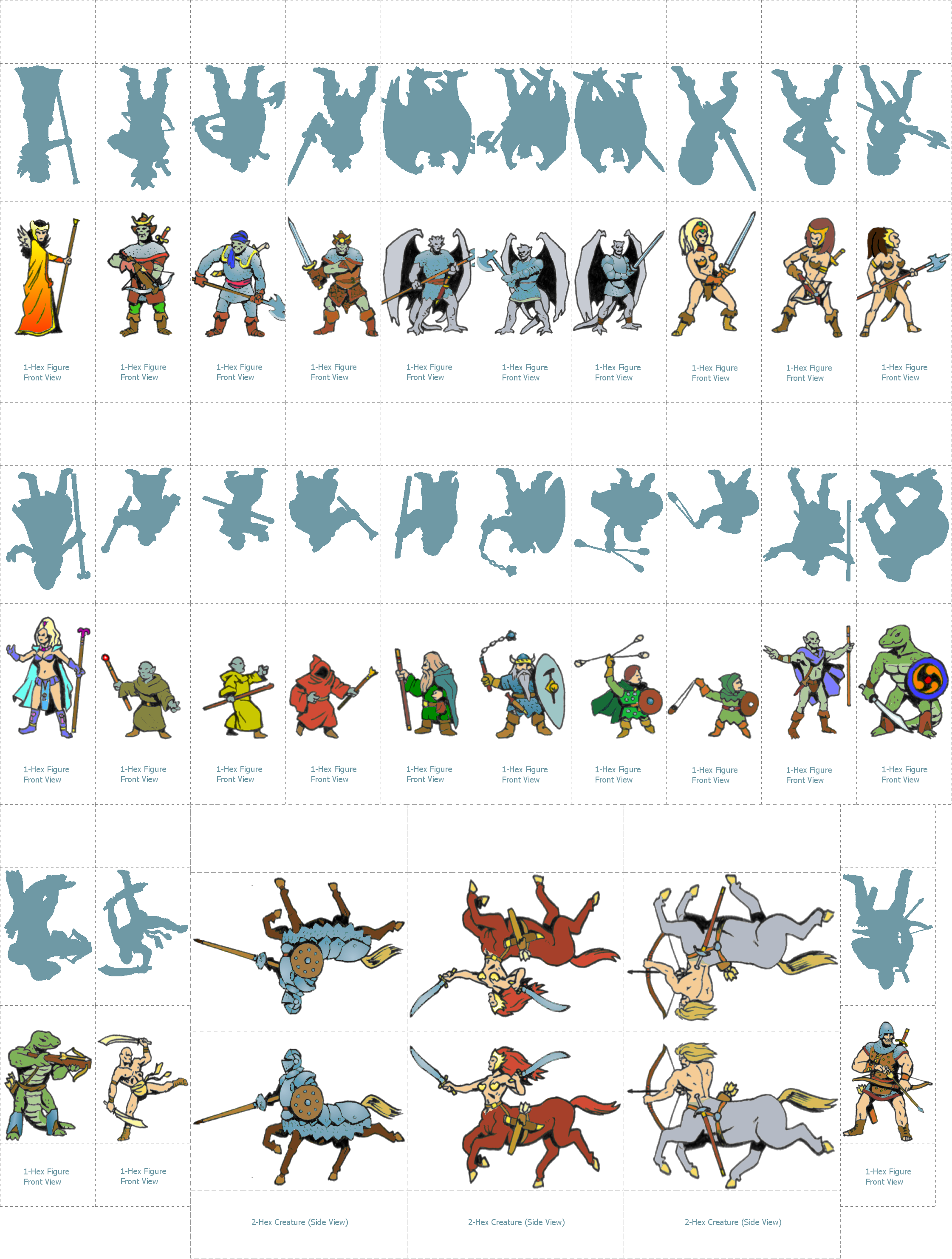 It is a picture of Refreshing D&d Paper Miniatures Template