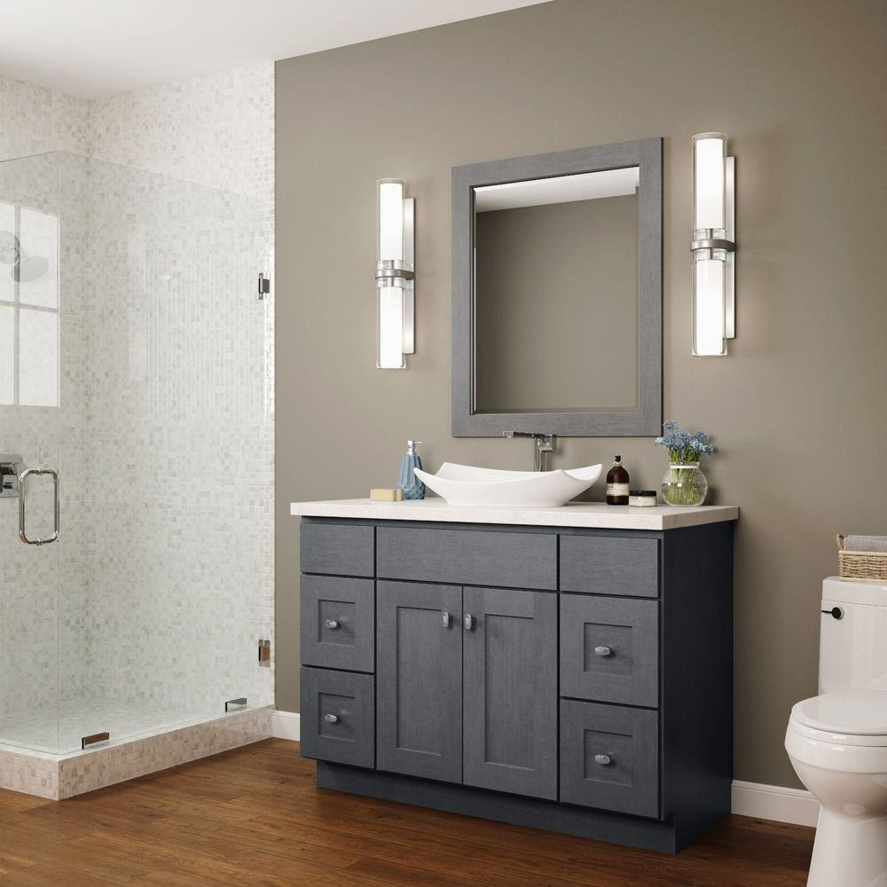 Details About Jsi Dover Lunar Gray Bathroom 42 Vanity Cabinet W 2 Doors 2 Drawers On Right Gorgeous Bathroom Bathroom Vanity Base Blue Bathroom