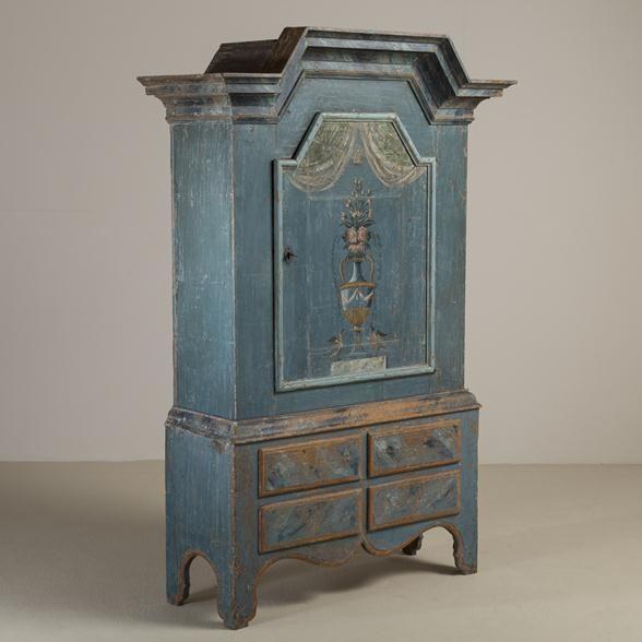 Talisman A Superb 18th Century Swedish Single Door Cupboard circa 1780 -
